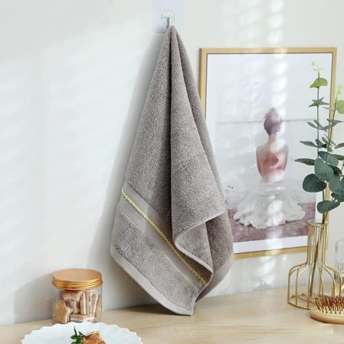 Juego de toallas de algodón egipcio, 35 x 75 cm, 2 unidades, 100% fibra de bambú, suave y de secado rápido, juego de toallas de cara jacquard de rayas