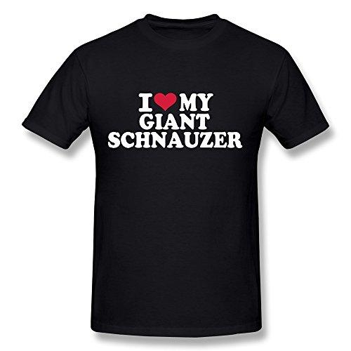 BANXIA I Love My Giant Schnauzer T Camisas para Hombre, Negro