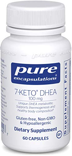 Pure Encapsulations - 7-Keto DHEA 100 mg - Unique DHEA Metabolite to Support Thermogenesis and Healthy Body Composition - 60 Capsules