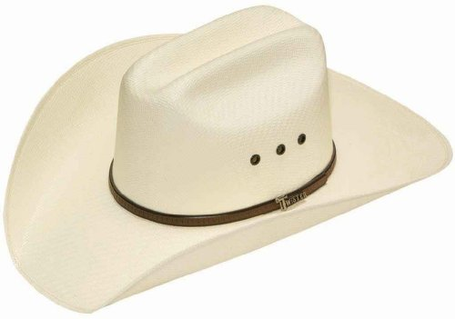 Twister Men's 5X Shantung Double S Straw Cowboy Hat Natural 7