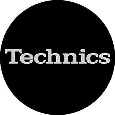 Technics 60638 Simple T2 Logo Design Slipmat - Black/Silver