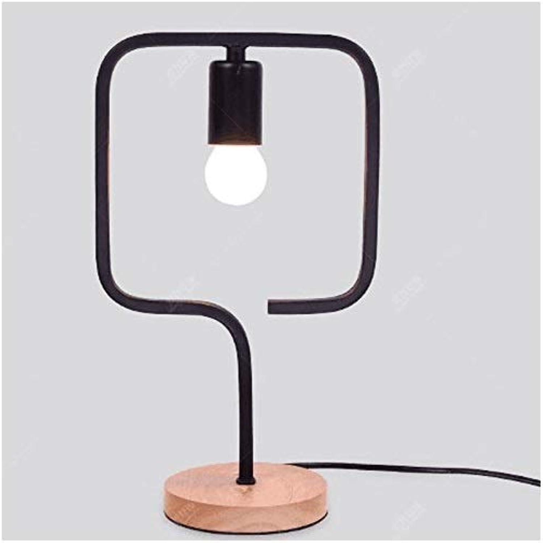 YS-FeiTeng tischlampe Schlafzimmer nachttischlampe kreative Mode tischlampe einfache Moderne dekorative tischlampe nachtlicht Garten schmiedeeisen holztischlampe (Muster    1)