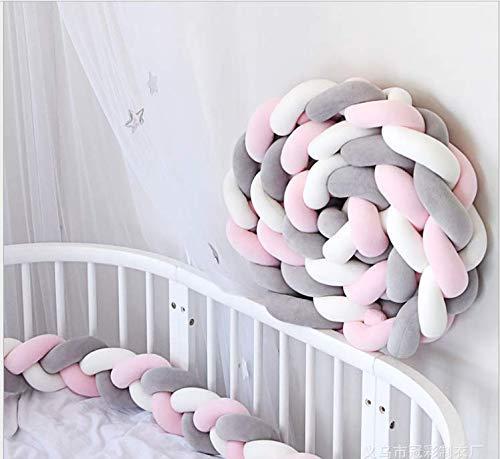 YIKANWEN Bettumrandung, Baby Nestchen Bettumrandung Weben Kantenschut Kopfschutz Stoßfänger Dekoration für Krippe Kinderbett,Länge 2M
