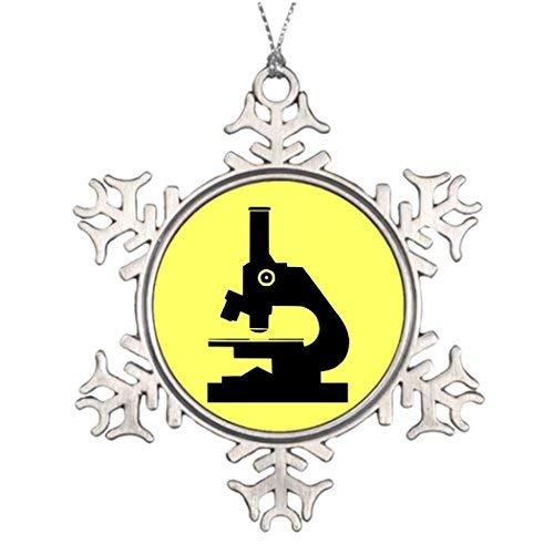 WSMBDXHJ Mikroskop Buntglas-Schneeflocke Weihnachtsschmuck Zinn für den Baum