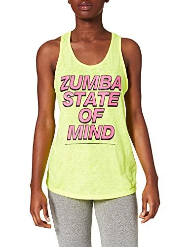 Zumba Burnout Dance Gimnasio Camisetas Tirantes Mujer Fitness Entrenamiento Deportivo Top Tank Tops, State of Yellow, Large Womens