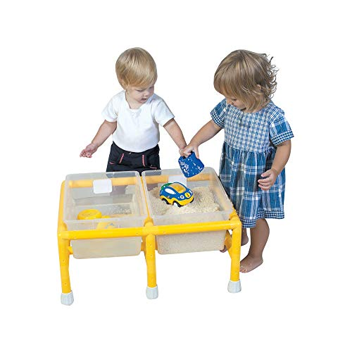 Children's Factory Mini Double Discovery Table, Sand & Water Sensory Play Table for Preschool/Montessori/Daycare, Indoor/Outdoor Toys for Toddler/Kids (CF905-134)
