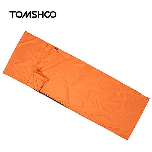 Walmeck- 70 * 210CM im Freien Spielraum Camping Wandern Polyester-Rohseide gesunde Schlafsack Liner mit Pillowcase Tragbarer Hotels Leichte Geschäftsreise