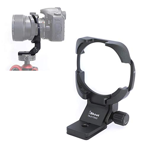 iShoot Tripod Mount Ring Lens Collar for Canon TS-E 17mm f/4L Tilt-Shift Lens 3553B002 & Canon TS-E 24mm f/3.5L II Tilt-Shift Lens 3552B002, with Quick Release Plate for Arca-Swiss Fit Tripod Ballhead