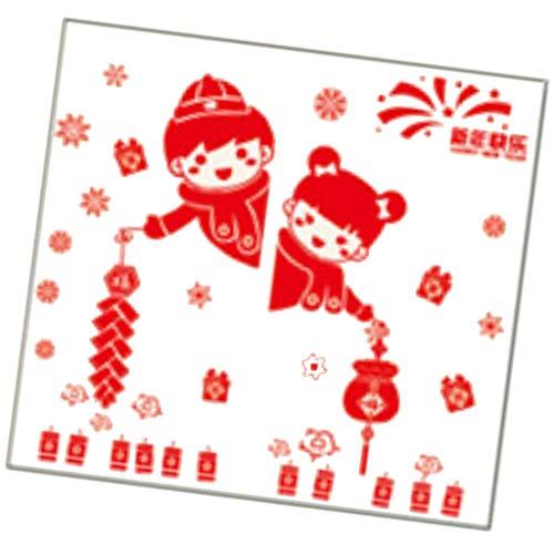 Sharplace Stickers Muraux Fête Du Printemps Chinois Pour Home Window DIY - Style_B
