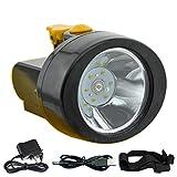 ACMENOVO LED Rechargeable Headlamp 2800mah Lightweight Waterproof Flashlight Head Light Miner Cap Lamp for Hard Hat Hiking Hunting Fishing Camping Outdoor