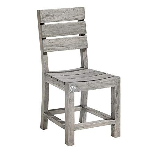 STRANDGUT07 chair, garden chair teak, grey wash