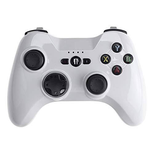 Wired Controller Gaming, Contrôleur De Jeu sans Fil Bluetooth Manette Vibration Poignée Gamepad