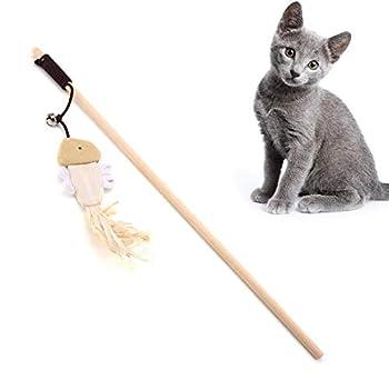 Nitrip Chat drôle Chat Jouer Jouet Cat Catcher Teaser bâton Chaser Baguette Jouet interactif