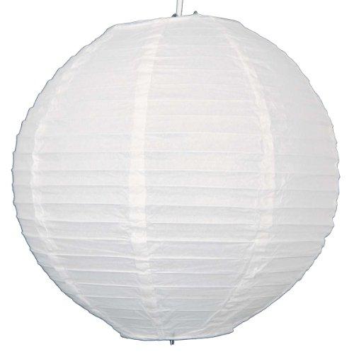 Lanterne en papier ronde avec nervures en fil de fer 30,5 cm