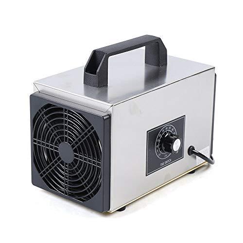 10 G/H Ozonizador antideslizante purificador de aire esterilizado carcasa de acero inoxidable 120 W para casa, coche, taller, cobertizo y esterilización