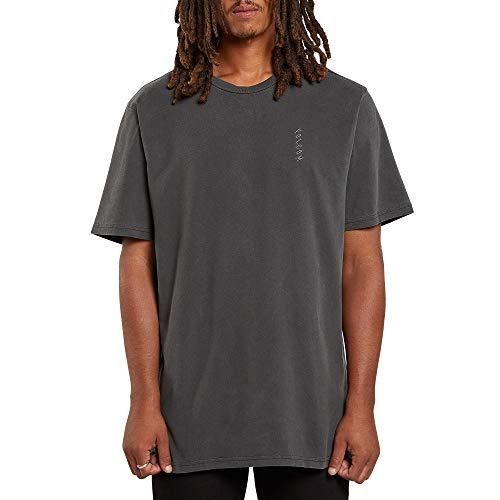 Volcom Virt S/S tee Camiseta de Manga Corta, Hombre, Black, XS