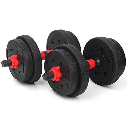 Pesas pesas pesas ajustable Peso fijado for el levantamiento de pesas y pesas de metal asas ergonómicas evitar que ruede pesas con mancuernas (Color: 20 kg (10 kg * 2)) Xping ( Color : 20kg(10kg*2) )