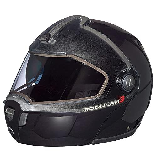 Ski-doo Modular 3 Snowmobiling Helmet-4479630990 (LARGE, BLACK)