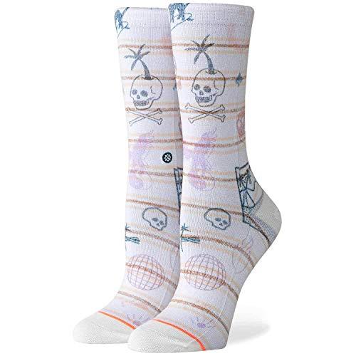 Stance Damen Hippie Moshpit Crew Socken, Offwhite, S