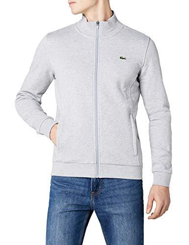 Lacoste Sport Herren SH7616 Reißverschluss Jacke, Grau (Argent Chine), Medium (Herstellergröße: 4)
