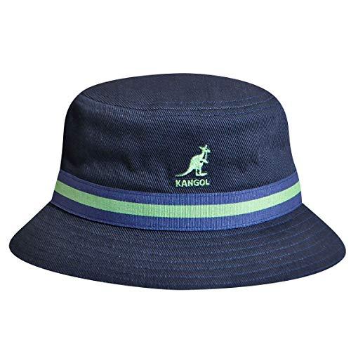 Kangol Men's Headwear Kangol Unisex-Erwachsene Stripe Lahinch Fischerhut, Blau-Blau (Marineblau), Small