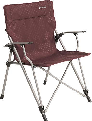Outwell Goya Chair Claret Outwell 470044 Campingstuhl mit einer Tragkraft von 100 Kg, Sitz 13 x 30 x 110 cm Klappstuhl Rot