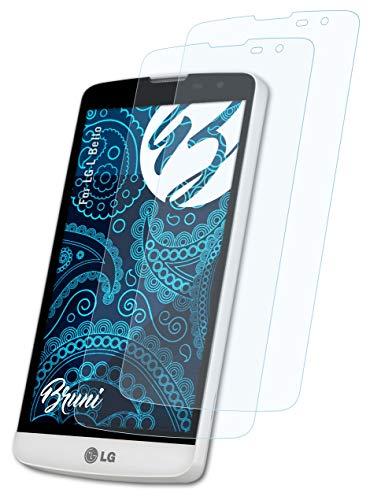 Bruni Schutzfolie kompatibel mit LG L Bello Folie, glasklare Bildschirmschutzfolie (2X)