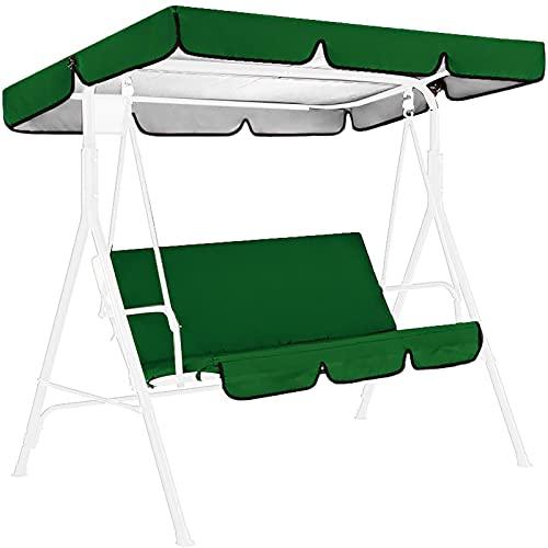Primlisa Cubierta para columpio de Hollywood, toldo y asiento | Cubierta de repuesto para columpio | Funda universal para balancín de jardín | 164 x 114 x 15 cm