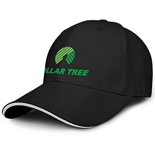 LHSPOSIFD Unisex Man Baseball Hats Low Key Adjustable Sports Dollar-Tree-Green-Logo-Flat Cap