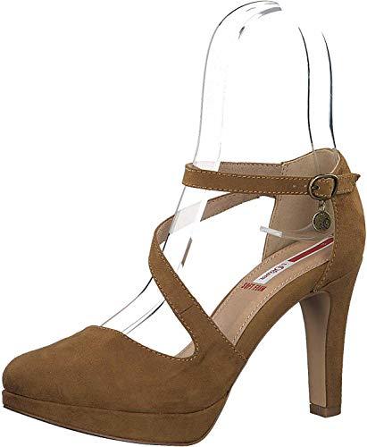 s.Oliver Damen Pumps High-Heels Riemchenpumps 5-24420-35, Größe:37 EU, Farbe:Braun