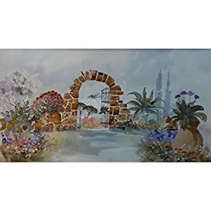 """Garten am Vesuv"" / Aquarellbild / 30 x 40 cm (Bild 17 x 31 cm)"