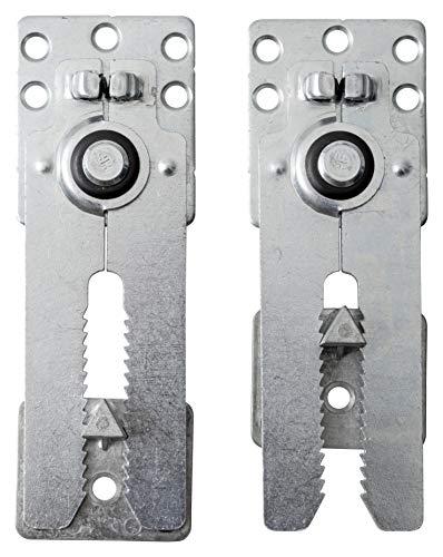 IPEA 2X Gancio Connettore a Incastro in Metallo con Molla per Divani e Mobili – Morsetti Giunti Regolabili a Coccodrillo per Fissaggio Armadi – 2 Pezzi, Colore Metallico, 160 x 55 mm