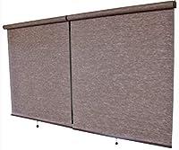リゾート 幅45×135cm ブラウン色 木調色 ロールスクリーン 南国風 ロールスクリーン 透過性生地 既成品サイズ