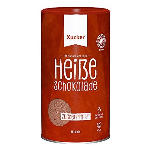 Xucker Heiße Schokolade ohne Zucker - Leckere Trink-Schokolade mit Xylitol Birkenzucker I Zuckerfreie Schokolade zum Trinken I heiß oder kalt genießbar I vegan und ohne Gentechnik (800g)