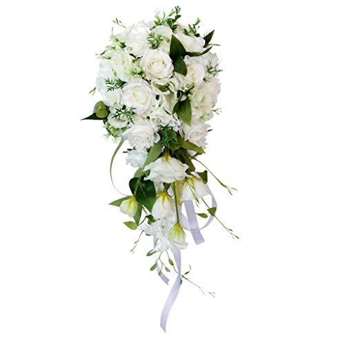 PETSOLA Blumenstrauß Hochzeitsstrauß Kunstblumen für Hochzeit Valentinstag Jahrestag