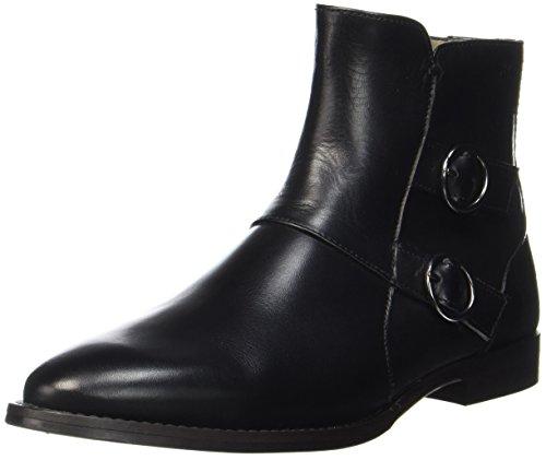 Marc O'Polo Damen Flat Heel Bootie 70714156001113 Stiefel, Schwarz (Black), 38 EU