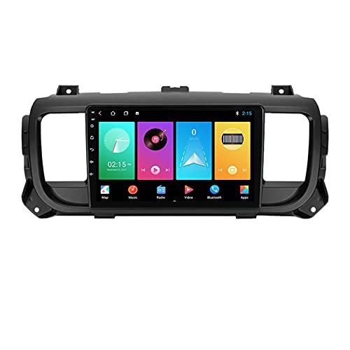 ADMLZQQ Car Radio Android 2 DIN con 9'' Pantalla Táctil GPS-Nav para Citroen Jumpy 2016-2021,Car Estéreo con Carplay/Bluetooth/Control del Volante/Cámara De Respaldo/DSP/Mirror Link/4G LTE/WiFi,M150s