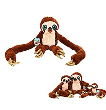 Coslive The Crood Belt Sloth Plush Long Arm Soft Stuffed Plush Valentine s Gift for Her/Him Brown Small