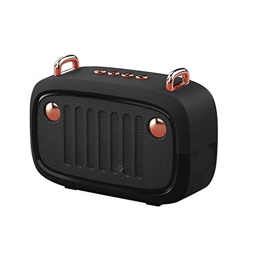 Altavoz portátil inalámbrico Bluetooth 5.0 Mini Cartoon con radio FM, conversación portátil con sonido de baja emisión (F)