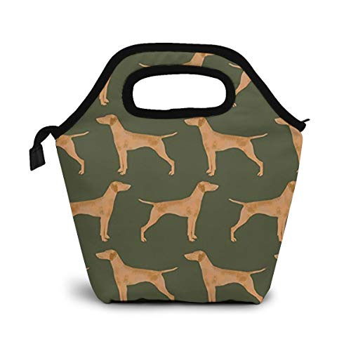 Green Vizsla Dog Original Lunch Box Insulated Lunch Bag - Tough & Spacious Adult Lunchbox to Seize Your Day