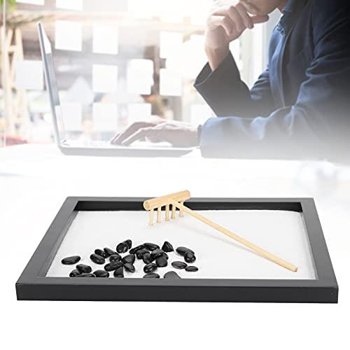 Zen Sandbox, decorazione artigianale da tavolo Decorazione del vassoio della sabbia Mini vassoio della sabbia della meditazione Zen fai da te per la casa
