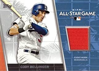 2017 Topps Update All-Star Stitches Relics #ASR-CB Cody Bellinger Event Worn Memorabilia Jersey Baseball Card from Rookie Season
