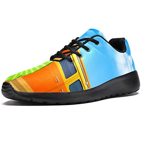 Zapatillas deportivas para correr para mujer, autobús con tablas de surf, zapatillas de deporte de malla, transpirables, para caminar, senderismo, tenis, color, talla 41 EU