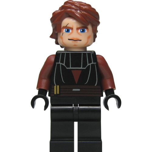 LEGO Star Wars: Anakin Skywalker (Clone) Minifigure with Blue Lightsaber by