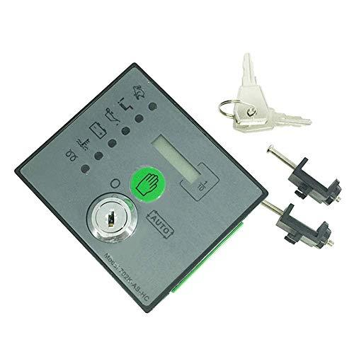 TXYFYP Generator Kontroll-, Dse702K Ms HC Notfall Stopp LED Automatisch Start Geschwindigkeit Anpassung Generator Kontroll- Panel mit Knöpfen - Schwarz, Free Size