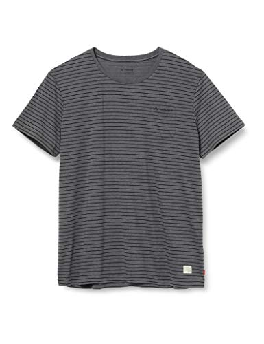 VAUDE Men's Arendal Shirt II Tee Homme, Black/Grey, FR : L (Taille Fabricant : L)