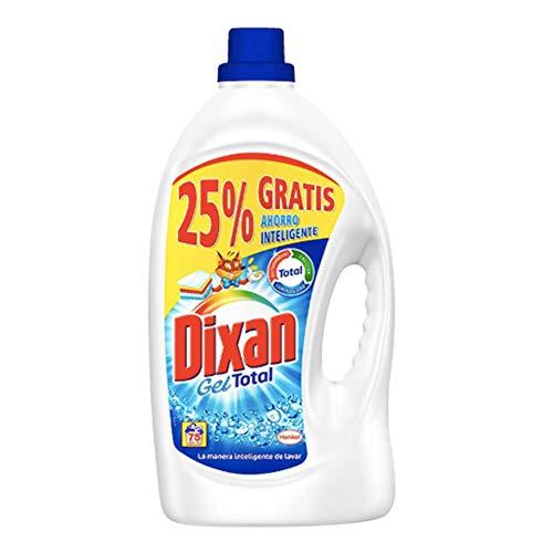 Dixan Gel Deter gram 3720 + 25% (60 + 15 = 75 dozen) afscheuren, neutraal, medium