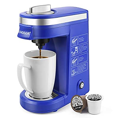 CHULUX Coffee Maker Machine,Single Cup Pod Coffee Brewer with Quick Brew Technology,Blue