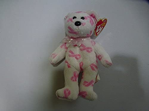 TY Beanie Baby - GIVING the Rosa Bear ( Metal Key Clip - Breast Cancer Awareness Bear ) by Ty
