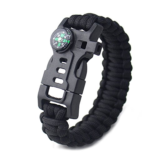 Fantastic Deal! Outdoor Rescue Camping Hiking Multi-Function Survival Bracelet Multi-Style Camouflag...